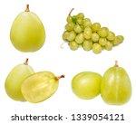 Fresh Green Grapes Isolated White - Fine Art prints