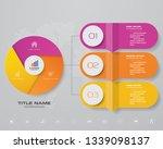 3 steps infographics chart... | Shutterstock .eps vector #1339098137