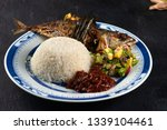 fried mackerel with chili paste ... | Shutterstock . vector #1339104461