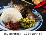 fried mackerel with chili paste ... | Shutterstock . vector #1339104464