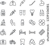 thin line icon set   disabled... | Shutterstock .eps vector #1339106081