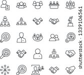 thin line icon set   handshake... | Shutterstock .eps vector #1339106561