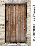 Ancient Wooden Door In Old...