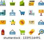 color flat icon set   load to... | Shutterstock .eps vector #1339116491