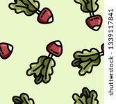 cute cartoon flat style radish... | Shutterstock .eps vector #1339117841