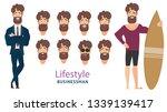 businessmen  young people ... | Shutterstock .eps vector #1339139417