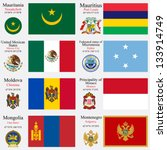 world flags of mauritania ... | Shutterstock .eps vector #133914749
