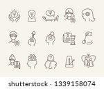 mental science line icon set....   Shutterstock .eps vector #1339158074