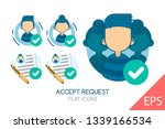 accept request. vector modern... | Shutterstock .eps vector #1339166534