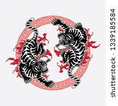 tiger tattoo design tattoos ... | Shutterstock .eps vector #1339185584