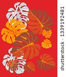 vector tropical pattern with... | Shutterstock .eps vector #1339192481