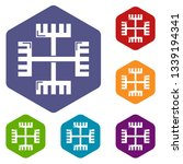 pagan ancient symbol icons... | Shutterstock .eps vector #1339194341