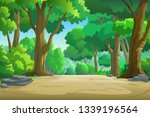 illustration of the forest in...   Shutterstock . vector #1339196564
