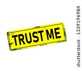 trust me dirty rusty metal icon ... | Shutterstock .eps vector #1339196984