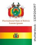 flag of bolivia  plurinational... | Shutterstock .eps vector #1339204397