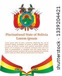 flag of bolivia  plurinational... | Shutterstock .eps vector #1339204421