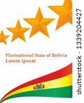flag of bolivia  plurinational... | Shutterstock .eps vector #1339204427