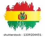 flag of bolivia  plurinational... | Shutterstock .eps vector #1339204451