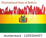 flag of bolivia  plurinational... | Shutterstock .eps vector #1339204457