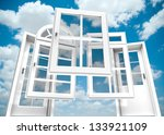 selection of doors and windows... | Shutterstock . vector #133921109