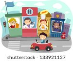 illustration of a kiddie... | Shutterstock .eps vector #133921127