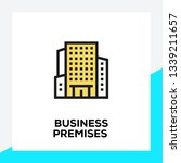 business premises line icon set | Shutterstock .eps vector #1339211657