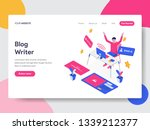 landing page template of blog... | Shutterstock .eps vector #1339212377