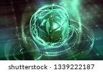 future processor. quantum cpu... | Shutterstock . vector #1339222187