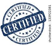 certified stamp. certified.... | Shutterstock . vector #133922381