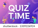 quiz time vector illustration...
