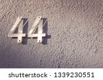 number 44 house number on the... | Shutterstock . vector #1339230551