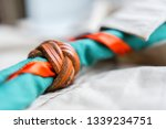 scout scarf and woggle .... | Shutterstock . vector #1339234751