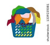 basket of dirty clothes icon....   Shutterstock .eps vector #1339235081