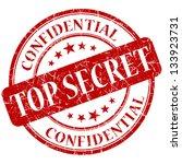 top secret stamp | Shutterstock . vector #133923731