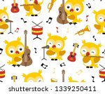seamless pattern vector with... | Shutterstock .eps vector #1339250411