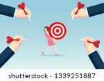 hitting the target | Shutterstock .eps vector #1339251887