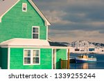 traditional green wooden house...   Shutterstock . vector #1339255244