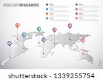 world map infographic symbol.... | Shutterstock .eps vector #1339255754