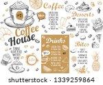 coffee house menu. restaurant... | Shutterstock .eps vector #1339259864