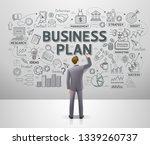 businessman drawing business... | Shutterstock .eps vector #1339260737