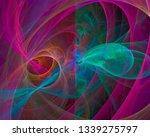 abstract digital fractal ...   Shutterstock . vector #1339275797