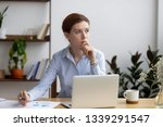 Pensive Businesswoman Thinking...