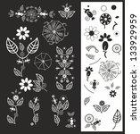 vectorf floral elements | Shutterstock . vector #133929959