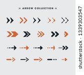 colorful arrows set | Shutterstock .eps vector #1339303547