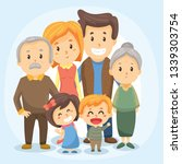 big family together. vector... | Shutterstock .eps vector #1339303754
