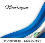 waving flag of nicaragua on...   Shutterstock .eps vector #1339307597