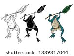 Japanese Lucky Frog Design For...