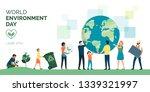 multiethnic group of people... | Shutterstock .eps vector #1339321997