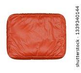 orange leather pouf on white... | Shutterstock . vector #1339340144