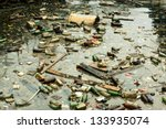 a large amount of trash... | Shutterstock . vector #133935074